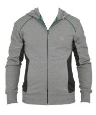 Кофта М Training+ Hooded F/Z Jacket Medium Grey Melange/Deep Grey