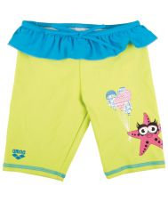Плавки ж ARENA WATER TRIBE KIDS GIRL UV JAMMER soft green/turquoise