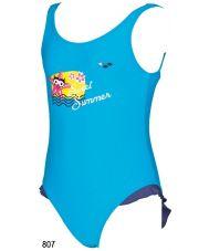 Купальник пляжный AWT STARFISH KIDS G ONE PIECE turquoise/navy